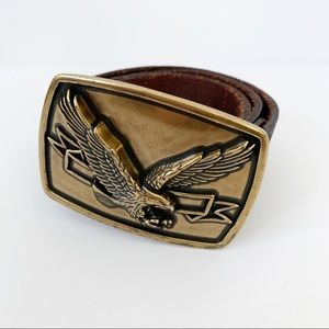 Levi's 70s Inspired Eagle Buckle Leather Belt